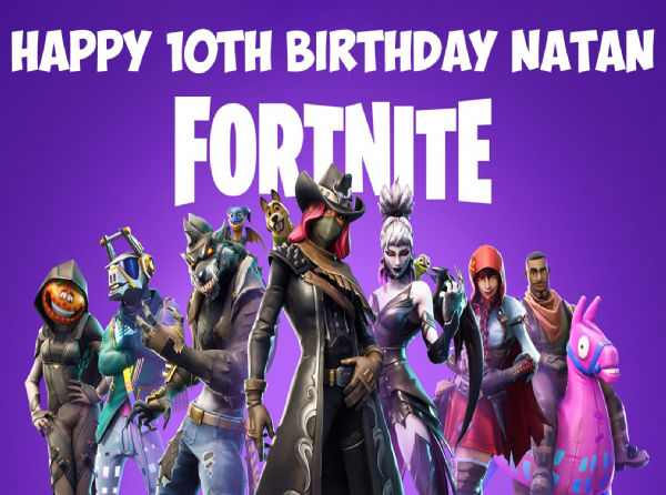 FORTNITE SEASON 6 PERSONALISED RECTANGULAR BIRTHDAY CAKE TOPPER